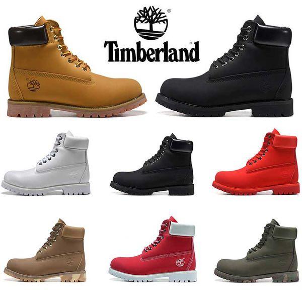 2019 Hotsale Timberland bottes bottes de luxe de designer pour hommes bottes d'hiver qualité supérieure femmes militaires Triple White Black Camo taille 36-45