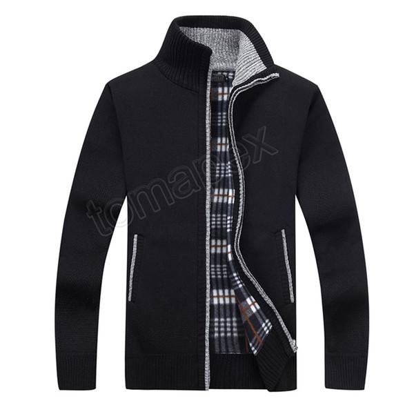 Nuovo 4XL 5XL Mens Fleece Swete Autunno Inverno Warm Cashmere Dress Slim Fat Lana con cerniera casuale maglione uomini cappotto lavorato a maglia AF1383