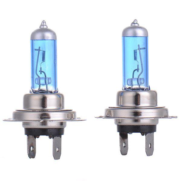 Hot 2pcs Halogen Bulb H7 55W Super Xenon White Fog Lights H7 Car Headlight Lamp High Power Car Light Source Parking 6000K Auto