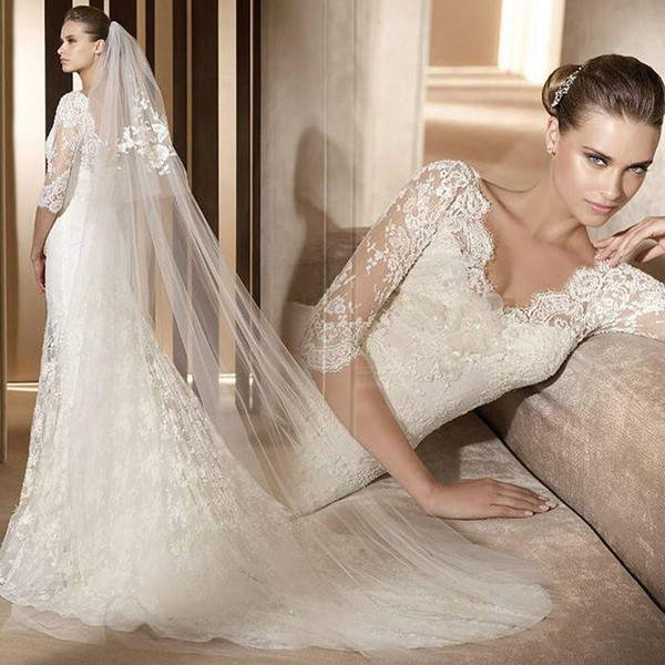 Bride Fishtail-tailed French Long-sleeved Net Red Hepburn Winter