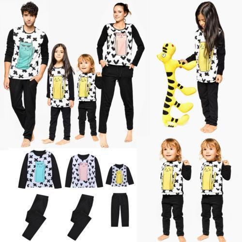 Familia Coincidencia de ropa infantil de Navidad para adultos pijamas de manga larga ropa de dormir ropa de dormir de la familia Ropa de Invierno 2018 Establece Nuevo
