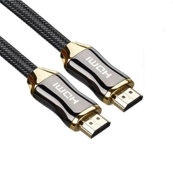 Aleación de zinc Cable HDMI V2.0 Alta velocidad Ultra HD 2Kx4K 1 m 1.5 m 2 m 3 m 5 m Para HD TV LCD Portátil Proyector