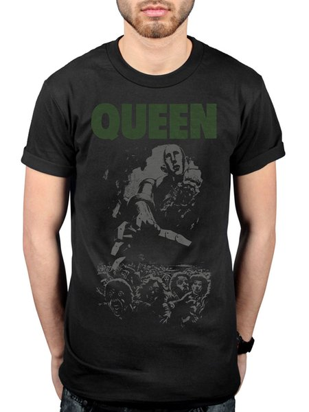 Official Queen News Of The World 40th Full Cover T-Shirt Made In Heaven Hot Spac Men Women Unisex Fashion tshirt Free Shipping black