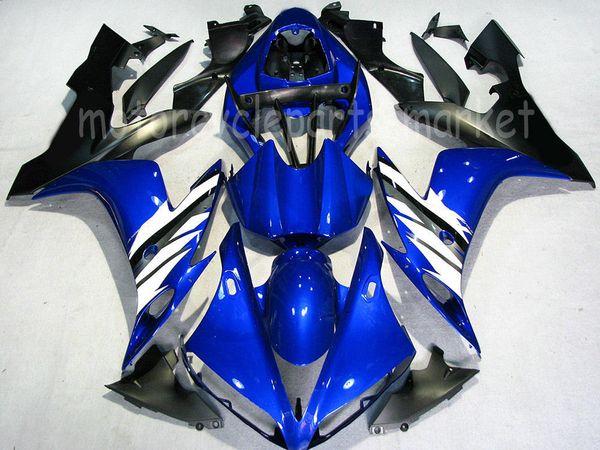 Moto ABS en plastique moulage par injection carénage kit de carrosserie complet pour YAMAHA YZFR1 YZF R1 2004-2006 2005 Bleu