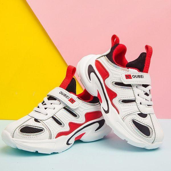 Otoño Bebé Zapato Catamite Chica Casual Ventilación Red Niñas Mujer Niño Zapatos Púrpura Niño Joker Zapatillas antideslizantes para niños