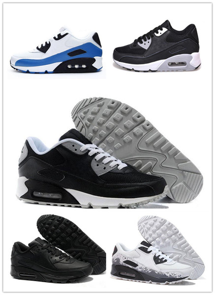 2019 2018 Classic Maxes Sneakers Shoes 90 Mens Running Shoes Women Sports Trainers Classic Air Cushion Brand Black Sneakers White Red Chaussures From