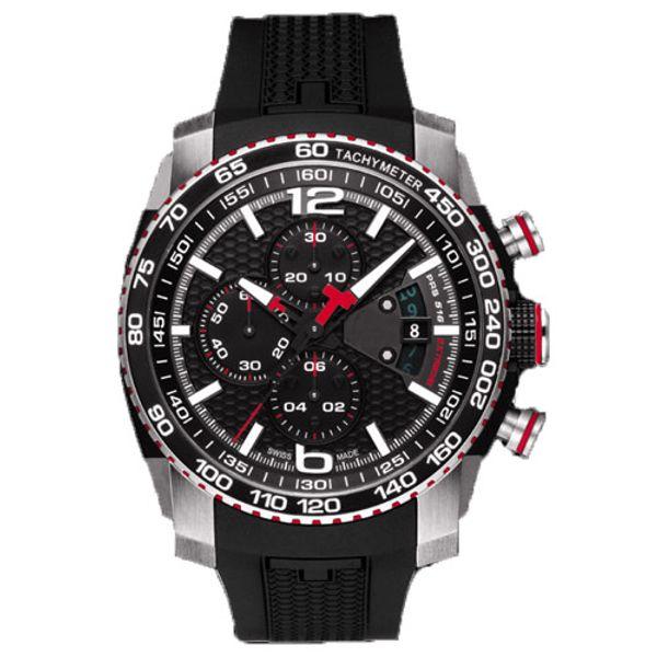 Lüks İzle erkekler Moda Spor Askeri Saatler T079 Chronograph Kuvars Saatı Su Geçirmez T-Yarış Üst Marka İzle T079.427.27.057.00