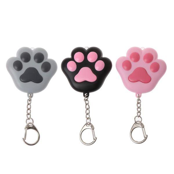 Cute Key Ring Fashion Keychains for Women Cartoon Cat Key Chain Sound Light LED Ring Fashion Jewelry