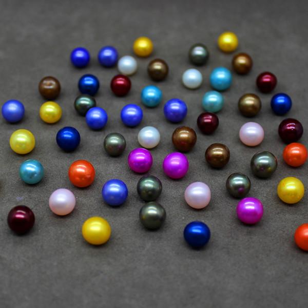 Venta al por mayor perla redonda de agua dulce natural 7-8 mm collar de perlas sueltas DIY que hace la pulsera del collar regalo exquisito