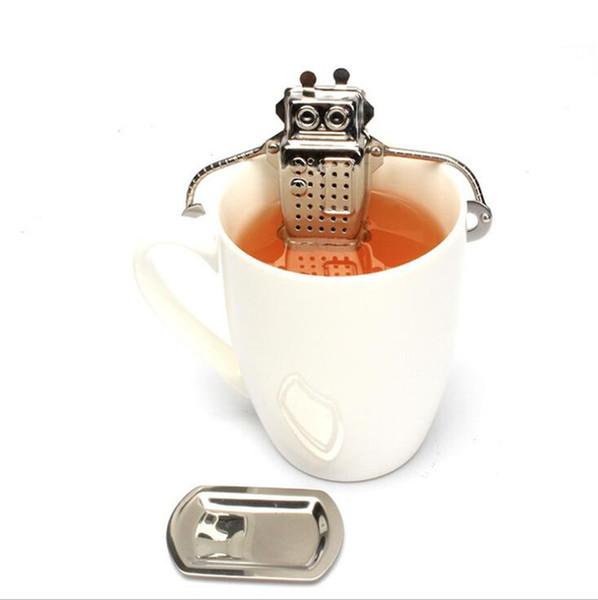 Eco-friendly robot appeso tè infusore diffusore infusore filtro in acciaio inox filtro a base di erbe spezie per le parti domestiche accessori per la cucina