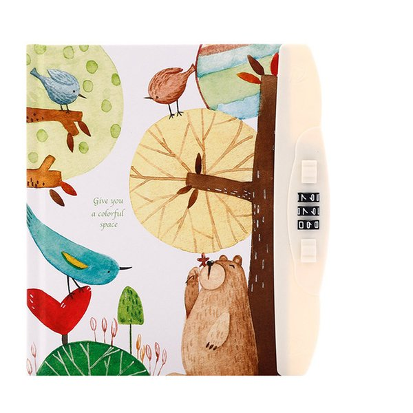 Dokibook Notebook Diary with Lock Kawaii Cartoon Clear Planner Organizer Password Personal Travel journal Note Book Stationery