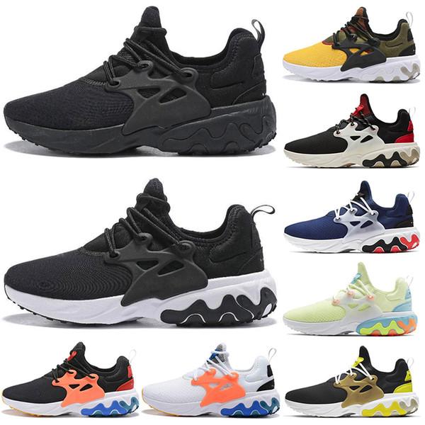Nike React Presto 2019 React Presto Hommes Femmes Chaussures De Course Triple Black Panda Breezy Jeudi Brutal Miel Prestos Hommes Baskets Baskets De Sport 36-45