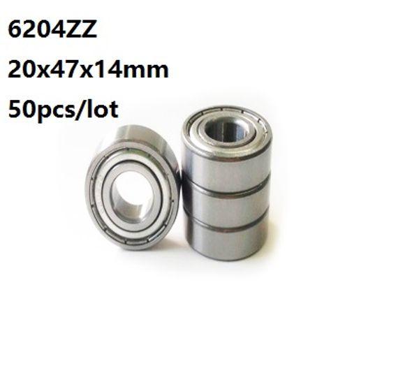 50 шт. / Лот Высокое качество 6204ZZ 6204-ZZ 6204 ZZ 2Z 20 * 47 * 14 мм Радиальный шарикоподшипник 20x47x14 мм