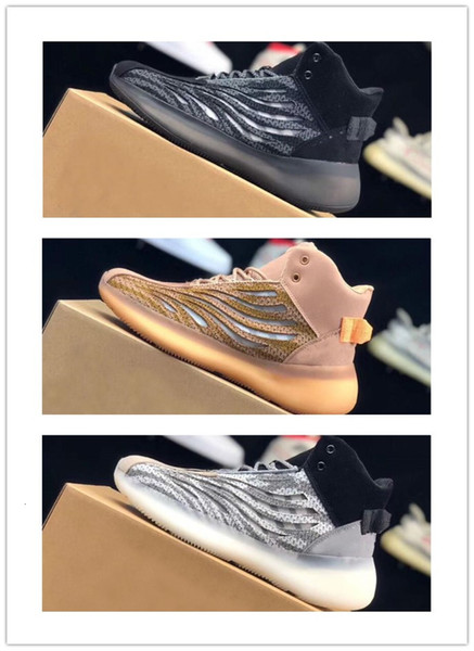 2019 Newest Quantum Kanye West Running Reflective Mens Women Black White Grey Zebra Designer Sport Sneaker Trainers Outdoor Shoes