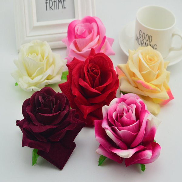 50pcs silk quality roses head for home wedding decoration Valentine's Day gift diy wreaths vases cheap artificial flower wall C18112601