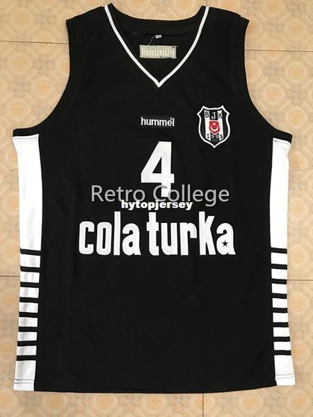 # 4 ALLEN IVERSON BESITA COLAS TURKA BASKETBALL JERSEY Stiche Passen Sie jede Größe und Bezeichnung XS-6XL Weste Jerseys NCAA