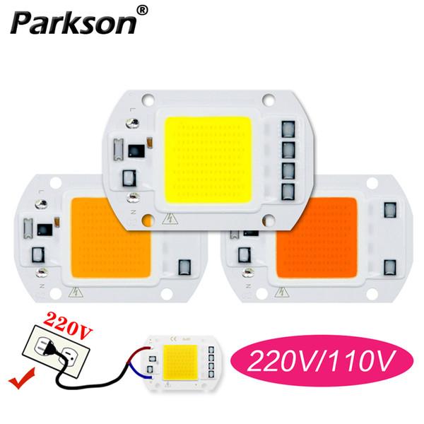 COB LED Lamp 220V 110V Bisogno driver 50W 30W 20W 10W intelligente IC Lampada LED lampada per DIY esterna Spotlight Proiettore Chip