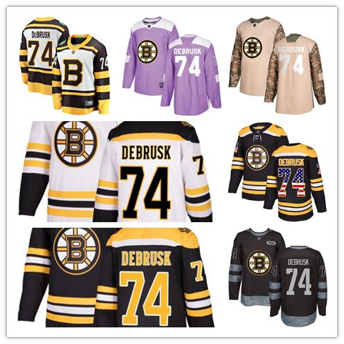 Boston Bruins jerseys  74 Jake DeBrusk jersey hockey team men women white  black drift Authentic winter classic Stiched CCM Jersey e24d4b1ca