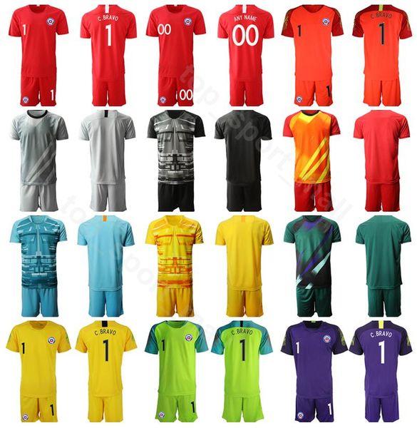 chile goalkeeper gk goalie soccer 1 gabriel arias jersey set 1 claudio bravo 12 brayan cortes football shirt kits uniform 2019 copa america