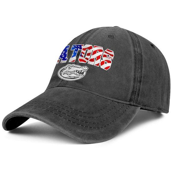 Womens Mens Washed Cap Hat Flat-along Adjustable Florida Gators football USA flag logo Hip-Hop Cotton Trucker Hats Golf Cadet Army Caps Buck