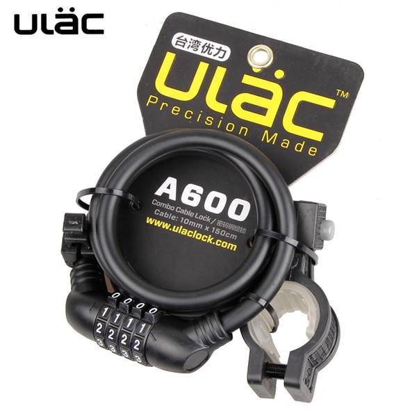 ULAC 4-Digital Kod Şifre Bisiklet Kilidi Anti-hırsızlık Güçlü Kablo Kilidi Için Bisiklet Zincir Tekerlek Çok Fonksiyonlu MTB Yol Bisikleti # 349991