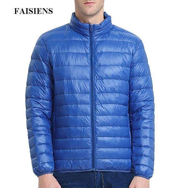 FAISIENS Large Size 5XL 6XL 7XL Parka Men 8XL 9XL Weight 160kg Long Sleeve 2018 Autumn Winter Navy Blue Red Jackets Men 6 Colors