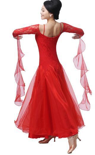 Большой размер красный розовый черный бальное платье венский стандарт бальных плюс размер бальных танцев платья танго костюмы