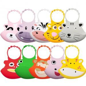 Baby Feeding Cartoon Silicone Bibs Children Animal Rice Bowl Leak-Proof Feeding Burp Cloths Waterproof Mouth Pocket LJJT212