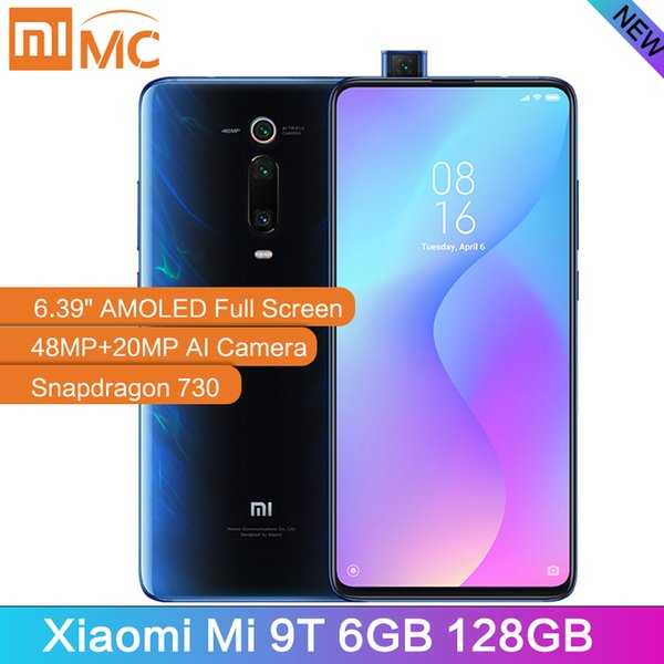Versão New Global Xiaomi Mi T9 6GB 128GB Mobile Phone Snapdragon 730 AI 48MP câmera traseira 4000mAh 6,39