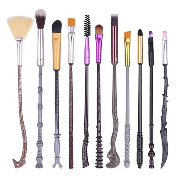 Top Qualité Severus Snape Métal Maquillage Pinceau Beauté Outil De Maquillage Collection De Jeux De Cosplay Baguette Harry Potter