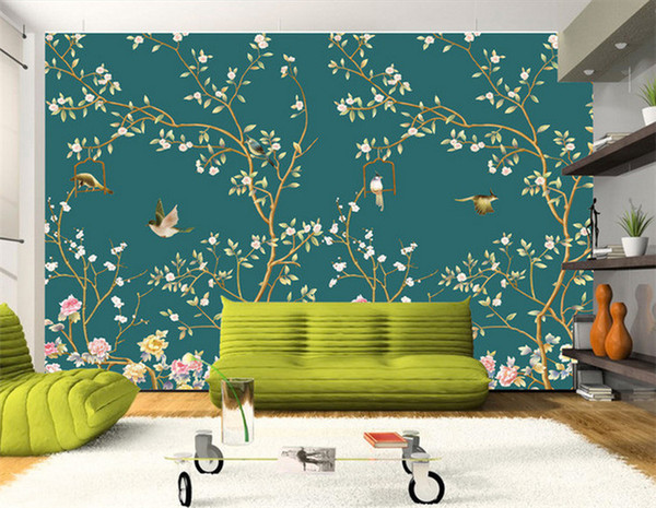 3D Wallpaper Birds Photo Mural Landscape Modern Wallpapers for Living Room TV Background Non-woven Wall Paper Murals Custom Size