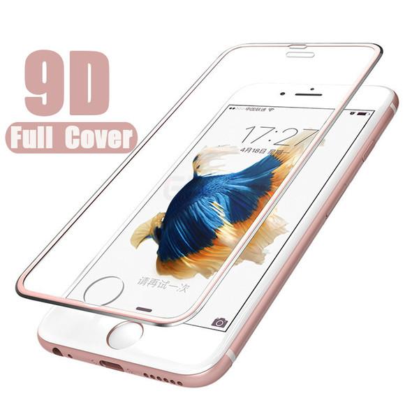 9D Закаленное стекло из алюминиевого сплава для iPhone 6 6S 7 8 Plus Защитная пленка для iPhone X XS Max XR Glass