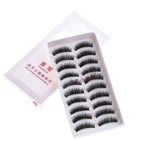 HOT 10 Paires / Set Longs Noir Faux Cils Maquillage Naturel Épais Faux Cils Cils Femmes Filles Cadeaux