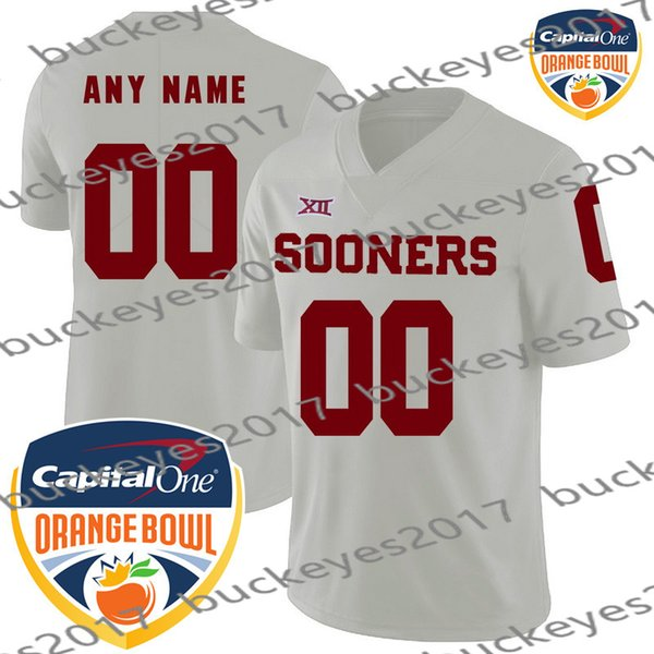 White with Orange Bowl Patch