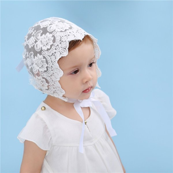 Newborn Infant Baby lace hat Toddler Baby lovely Lace Floral Cap Girl Boy Kids Photography Props Caps Christening Flower Beanie
