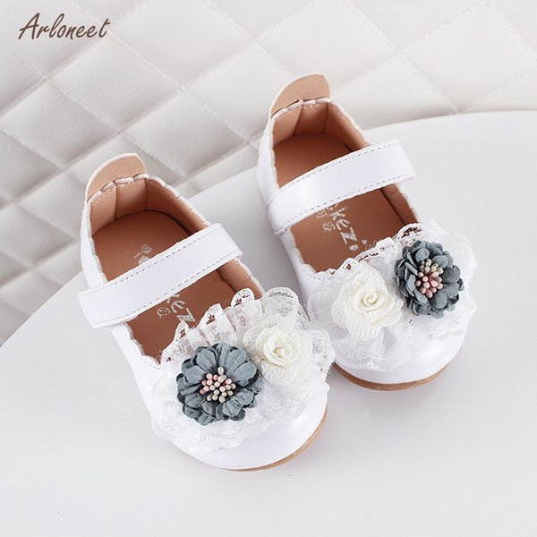 ARLONEET 2019 FashionToddler Kids Baby Girls Sandals Summer Single Princess Shoes Elegant Flower Sandals for Girl Student Shoes