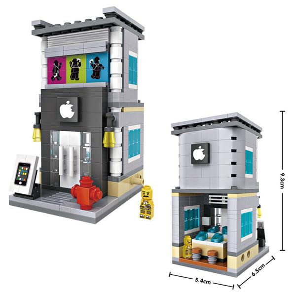 LOZ Mini City Street View Scene Mini Building Blocks Caffetteria Vendita al dettaglio Architetture Modellismo Giocattolo
