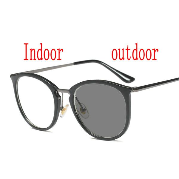 Miyopi Güneş Gözlüğü Fotokromik Bitmiş Erkek Kadın Miyopi Gözlük Çerçeve renkli lens ile Güneş gözlükleri Gözlük FML