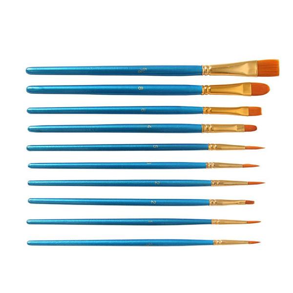 Painting Pen Kit for Water Brush Wood Blue Watercolor Painting DIY Graffiti 7.5 x 22.5cm/3.0 x 8.9inch Pen