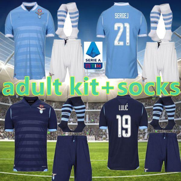 Compre KIT DE 2019 Adulto Lazio En Casa Camisetas De Fútbol
