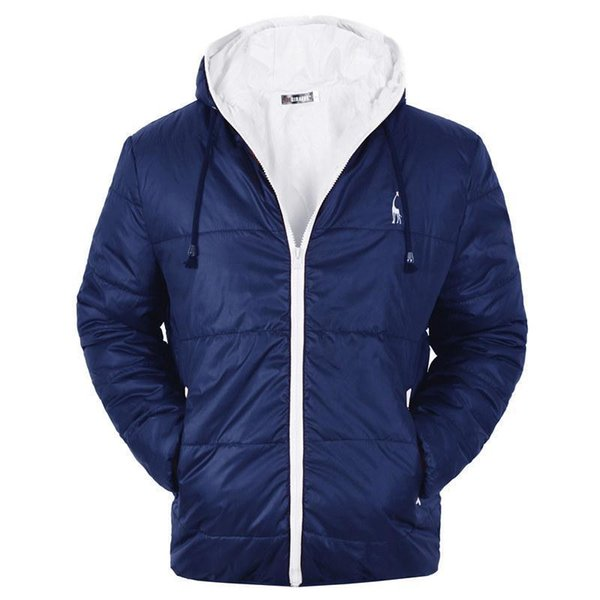Pop 2019 Dropshipping Waterproof Autumn Winter Coat Men Casual Hoodied Cotton Padding Parka Men Clothes Deer Embroidery Winter Jacket
