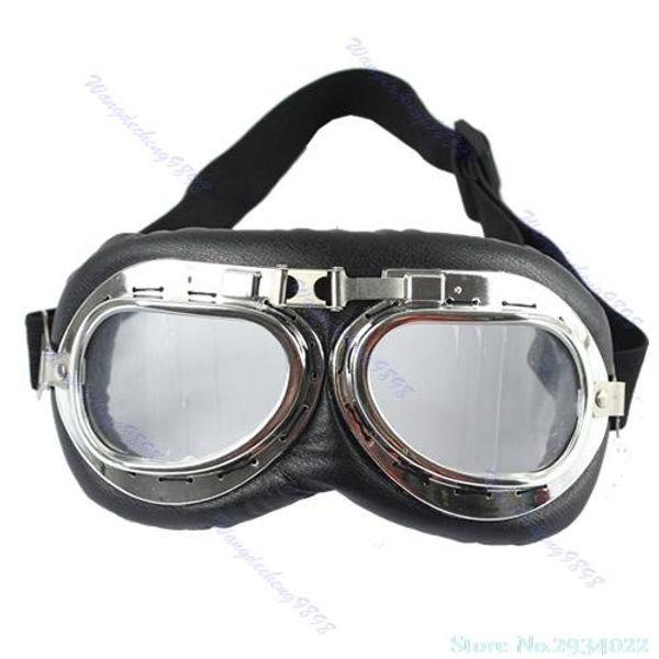 Nueva motocicleta de la vendimia gafas moto scooter aviador crucero casco piloto gafas venta caliente nave de la gota