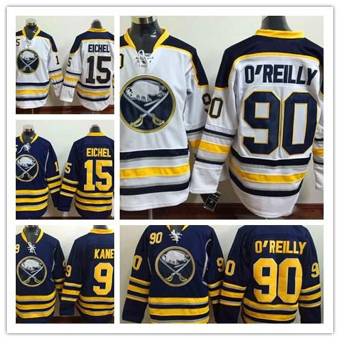 2019 Herren Buffalo Sabres Hockey Trikots 15 Jack Eichel Navy Blue Heimtrikot Großhandel Authentic Stitched Hockey Trikots Mix bestellen
