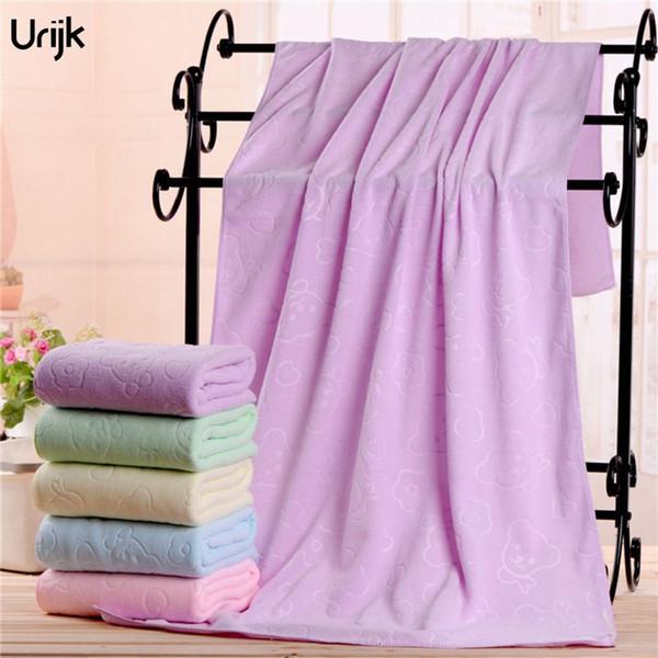 Urijk Wholesale 70*140cm Beach Towel Bear Print Solid Bath Microfiber  Fabric Rectangle Bathroom Kitchen Towel Washable Decor Face Towel Size  Handtowel ...