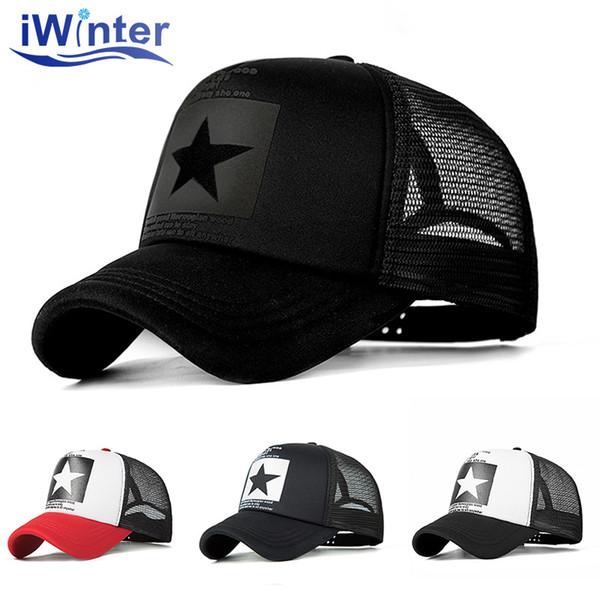 IWINTER 2018 Dropshipping Baseball Cap For Women Men Mesh Cap Snapback Hat Bone Adjustable Baseball Hat Wholesale