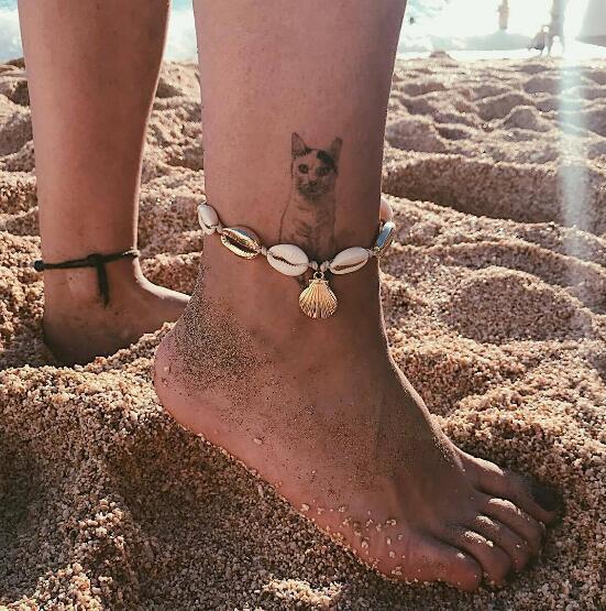 Estate nuova spiaggia vacanza conchiglia naturale cavigliera sesso ciondolo guscio d'oro cavigliera corda di cotone cavigliera moda gioielli