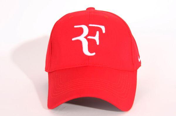 2019 Nakış yeni YENI Erkekler Yaz Serin Şapka Roger Federer RF tenis Hayranları Caps Serin Yaz Beyzbol Tenis Spor Şapka Erkekler Beyzbol Kap