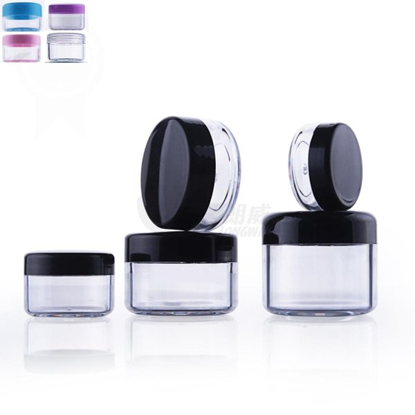 50pcs/lot 3g 5g 10g 15g 20g Small cream jar Empty Refillable Bottles Sample Cosmetic Container Eyeshadow Makeup Packaging Case