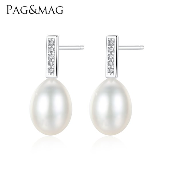 Girls Freshwater Pearl Earring White//Cream 925 Silver Stud New Women Earrings