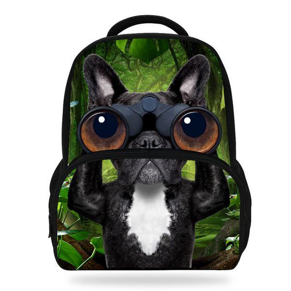 Fashion 14Inch Cute Animal Backpack For Kids Dog Print Bag For Children Girls Boys Shool Book Bag
